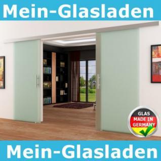 Glasschiebetüren 2x775x2050mm 2-flügelig Stangengriff