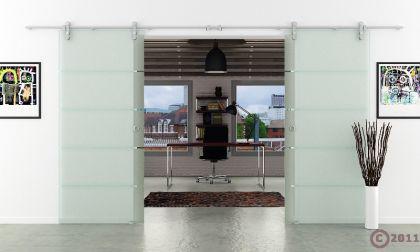 doppel glasschiebet r 1550x2050mm 2 fl gelig gestreift. Black Bedroom Furniture Sets. Home Design Ideas