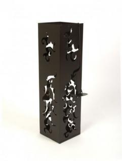 Feuersäule 60cm Braun 10830 Feuerkorb Feuerschale aus Metall Deko - Vorschau 2