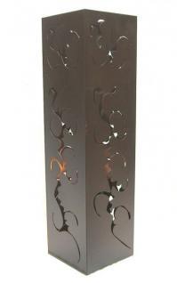 Feuersäule 60cm Braun 10830 Feuerkorb Feuerschale aus Metall Deko - Vorschau 1