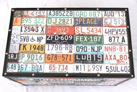 """Truhe Holztruhe """"Travel"""" 15686 S Kiste 50cm Shabby Kasten USA-Kennzeichen - Vorschau 4"""