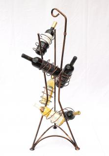 Weinregal Art.242 Flaschenregal 112cm Flaschenhalter Metall Weinständer für 1L. Flaschen