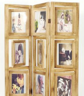 paravent mit bilderrahmen 16930 raumteiler 161cm holz spanische wand trennwand kaufen bei. Black Bedroom Furniture Sets. Home Design Ideas