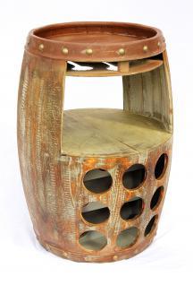 weinregal weinfass 1681 bar h 68cm flaschenst nder regal fass f r 18 fl braun kaufen bei. Black Bedroom Furniture Sets. Home Design Ideas