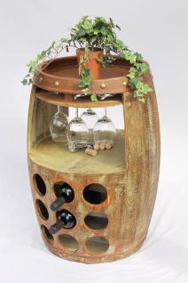 Weinregal Weinfass 1681 Bar H-68cm Flaschenständer Regal Fass für 18 Fl. Braun - Vorschau 3