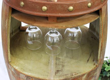 Weinregal Weinfass 1681 Bar H-68cm Flaschenständer Regal Fass für 18 Fl. Braun - Vorschau 4