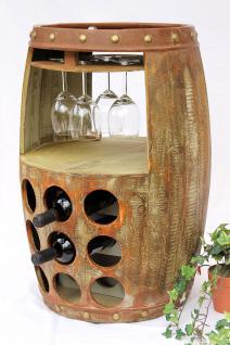 Weinregal Weinfass 1681 Bar H-68cm Flaschenständer Regal Fass für 18 Fl. Braun - Vorschau 5