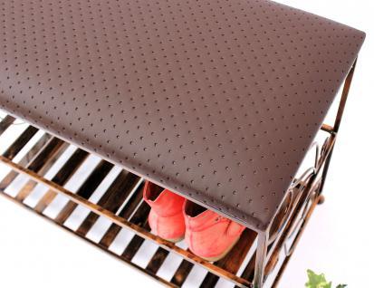 schuhregal mit sitzbank bank 70cm schuhbank schuhschrank aus metall schuhablage kaufen. Black Bedroom Furniture Sets. Home Design Ideas