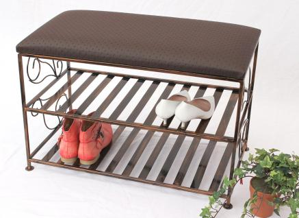 schuhregal mit sitzbank bank 70cm schuhbank schuhschrank aus metall schuhablage kaufen. Black Bedroom Furniture Sets. Home Design Ideas