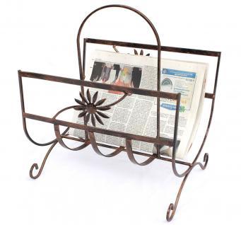 Zeitungsständer Art.169 aus Metall 37cm Zeitungshalter Beistelltisch Zeitungskorb - Vorschau 1