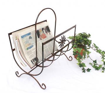 Zeitungsständer Art.169 aus Metall 37cm Zeitungshalter Beistelltisch Zeitungskorb - Vorschau 3