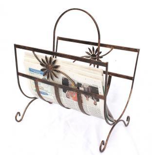 Zeitungsständer Art.169 aus Metall 37cm Zeitungshalter Beistelltisch Zeitungskorb - Vorschau 4