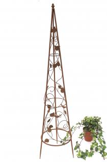 Rankhilfe Pyramide 082547 aus Metall M-118cm Kletterhilfe Rankgerüst Ranke - Vorschau 1