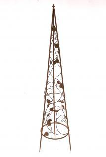 Rankhilfe Pyramide 082547 aus Metall M-118cm Kletterhilfe Rankgerüst Ranke - Vorschau 2