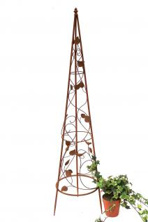 Rankhilfe Pyramide 082547 aus Metall M-118cm Kletterhilfe Rankgerüst Ranke - Vorschau 5