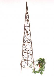 Rankhilfe Pyramide 082547 aus Metall L-142cm Kletterhilfe Rankgerüst Ranke