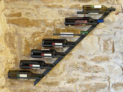 Weinregal Diagon Links 100cm aus Metall Flaschenhalter Flaschenständer Wandregal