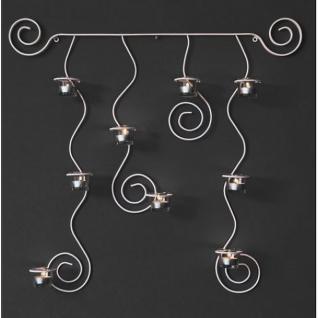 wandteelichthalter lysa wei wandkerzenhalter aus metall 74cm teelichthalter kaufen bei. Black Bedroom Furniture Sets. Home Design Ideas