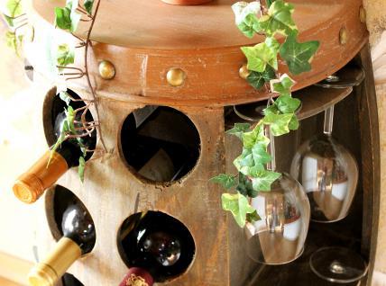 Weinregal Weinfass Nr.1547 Beistelltisch Schrank Fass aus Holz 65cm Weinbar Bar - Vorschau 3