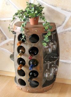 Weinregal Weinfass Nr.1547 Beistelltisch Schrank Fass aus Holz 65cm Weinbar Bar - Vorschau 5