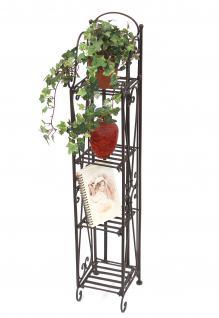 Regal Blumensäule aus Metall 100cm Braun 92026 Bücherregal Badregal Blumenregal