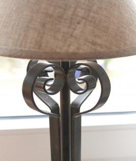 Tischlampe 015264 Carezzo 49cm Nachttischlampe aus Schmiedeeisen Lampe Nachtlampe - Vorschau 3