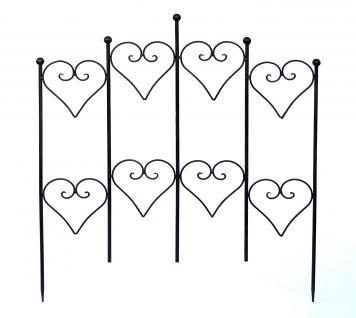 steckzaun minatto 077842 rankhilfe rankgitter aus metall b. Black Bedroom Furniture Sets. Home Design Ideas