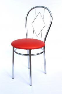Stuhl aus Metall Bistrostuhl Art.261B Karo 88cm verchromt Stühle