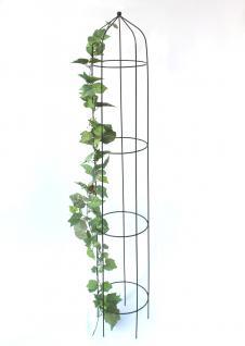 Rosensäule Art.386 Rankhilfe 160cm Kletterhilfe Bodenstecker Rankpyramide Grün