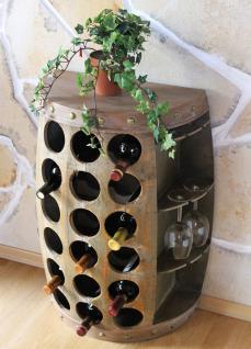 Weinregal Weinfass Nr.1486 Beistelltisch Schrank Fass aus Holz 72cm Weinbar Bar - Vorschau 5