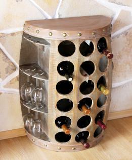 Weinregal Weinfass Nr.1486 Beistelltisch Schrank Fass aus Holz 72cm Weinbar Bar - Vorschau 2