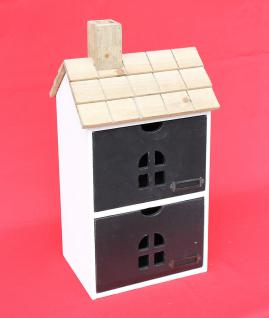 Minikommode Haus Kommode 14B407 Schrank mit 2 Schubladen 43cm Ordner Küchenregal - Vorschau 3