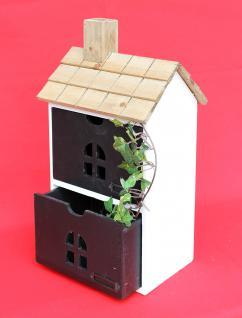 Minikommode Haus Kommode 14B407 Schrank mit 2 Schubladen 43cm Ordner Küchenregal - Vorschau 4