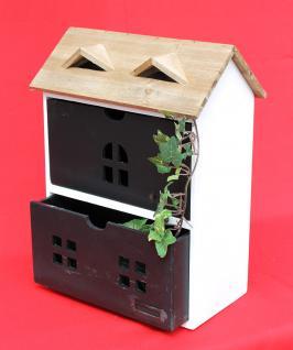 Minikommode Haus Kommode 14B410 Schrank mit 2 Schubladen 38cm Ordner Küchenregal - Vorschau 2