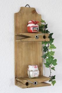 Wandregal 14B460 Setzkasten Wäscheklammer 39cm Wandkonsole Küchenregal Konsole - Vorschau 1