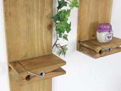 Wandregal 14B460-61 2er Set Setzkasten 39cm und 64cm Wäscheklammer Wandkonsole - Vorschau 3