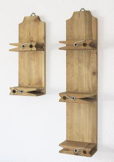 Wandregal 14B460-61 2er Set Setzkasten 39cm und 64cm Wäscheklammer Wandkonsole - Vorschau 4