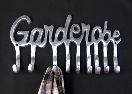 Garderobe 14463 Wandgarderobe 40cm mit 9 Kleiderhaken aus Alu Silberfarben Haken - Vorschau 5