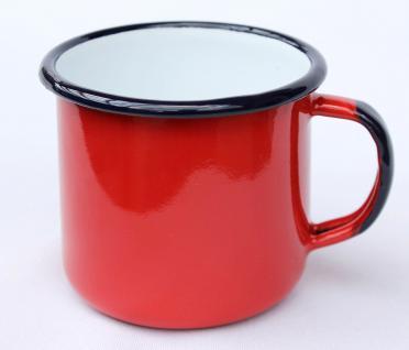 Emaille Tasse 501/8 Rot Becher emailliert 8 cm Kaffeebecher Kaffeetasse Teetasse