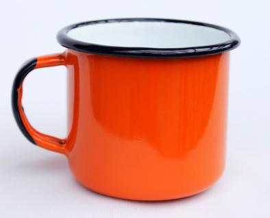 Emaille Tasse 501/8 Orange Becher emailliert 8 cm Kaffeebecher Kaffeetasse Teetasse - Vorschau 3