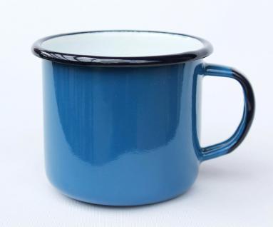 Emaille Tasse 501/8 Blau Becher emailliert 8 cm Kaffeebecher Kaffeetasse Teetasse