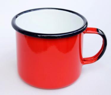 Emaille Tasse 501/10 Rot Becher emailliert 10 cm Kaffeebecher Kaffeetasse Teetasse