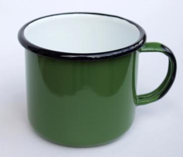 Emaille Tasse 501/10 Grün Becher emailliert 10 cm Kaffeebecher Kaffeetasse Teetasse - Vorschau 1