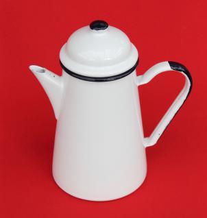 Kaffeekanne 578TB Weiß emailliert 22cm Wasserkanne Kanne Emaille Nostalgie Teekanne