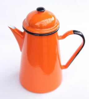 Kaffeekanne 578TB Orange emailliert 22cm Wasserkanne Kanne Emaille Nostalgie Teekanne