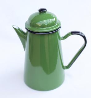 Kaffeekanne 578TB Grün emailliert 22cm Wasserkanne Kanne Emaille Nostalgie Teekanne - Vorschau 1