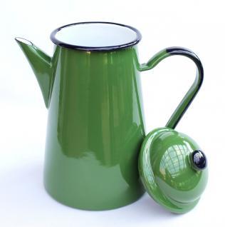 Kaffeekanne 578TB Grün emailliert 22cm Wasserkanne Kanne Emaille Nostalgie Teekanne - Vorschau 2