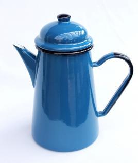 Kaffeekanne 578TB Blau emailliert 22cm Wasserkanne Kanne Emaille Nostalgie Teekanne