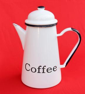 Kaffeekanne 578TB Coffee emailliert 22cm Wasserkanne Kanne Emaille Nostalgie Teekanne