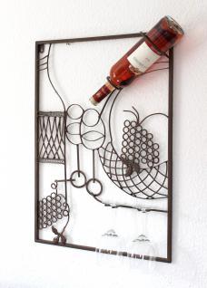 Wandbild Weinregal 091978 Flaschenständer Metall 65 cm Flaschenhalter Wandregal